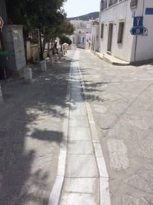 Lefkis village Paros - centre rainways