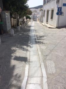 Lefkis village Paros - centre rainways