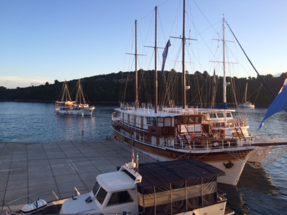 Mljet - St Mary's Island - Wherever you go, there are boats!