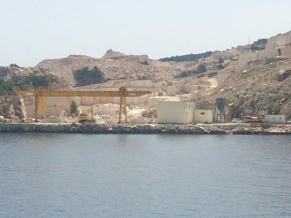 Brac - the main marble quarry.