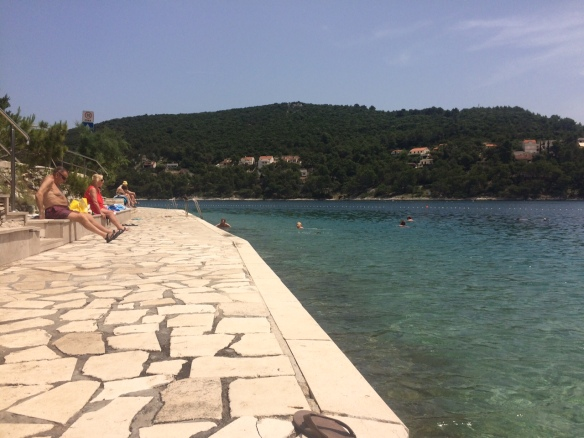 Brac - swimming.