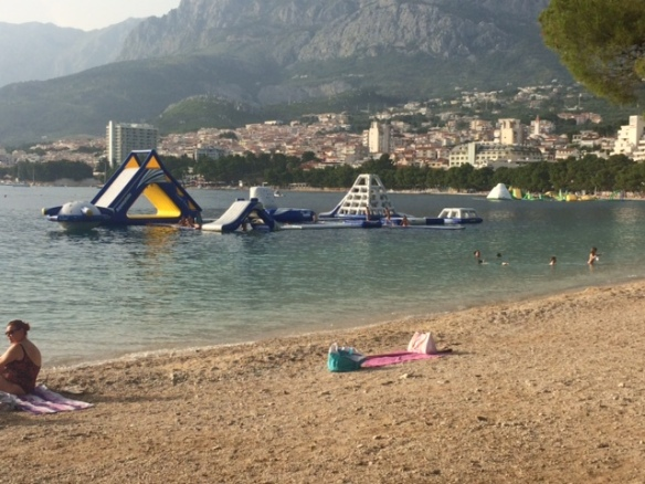 Makarska - water toys everywhere.