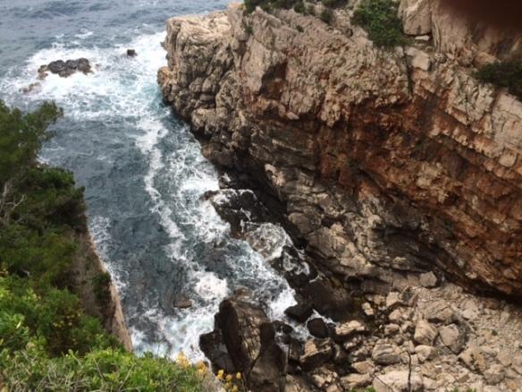 Lokrum Island - sheer cliffs