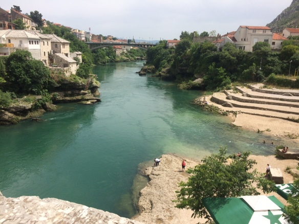 Mostar - view from the diving bridge