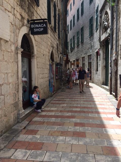 Montenegro Kotor wider streets