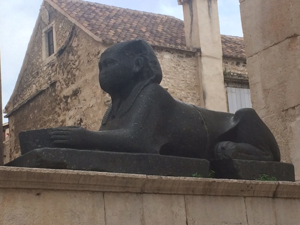 Diocletian Palace - Sphinx 3000 yrs old - brought from Egypt by the Roman Emperor.